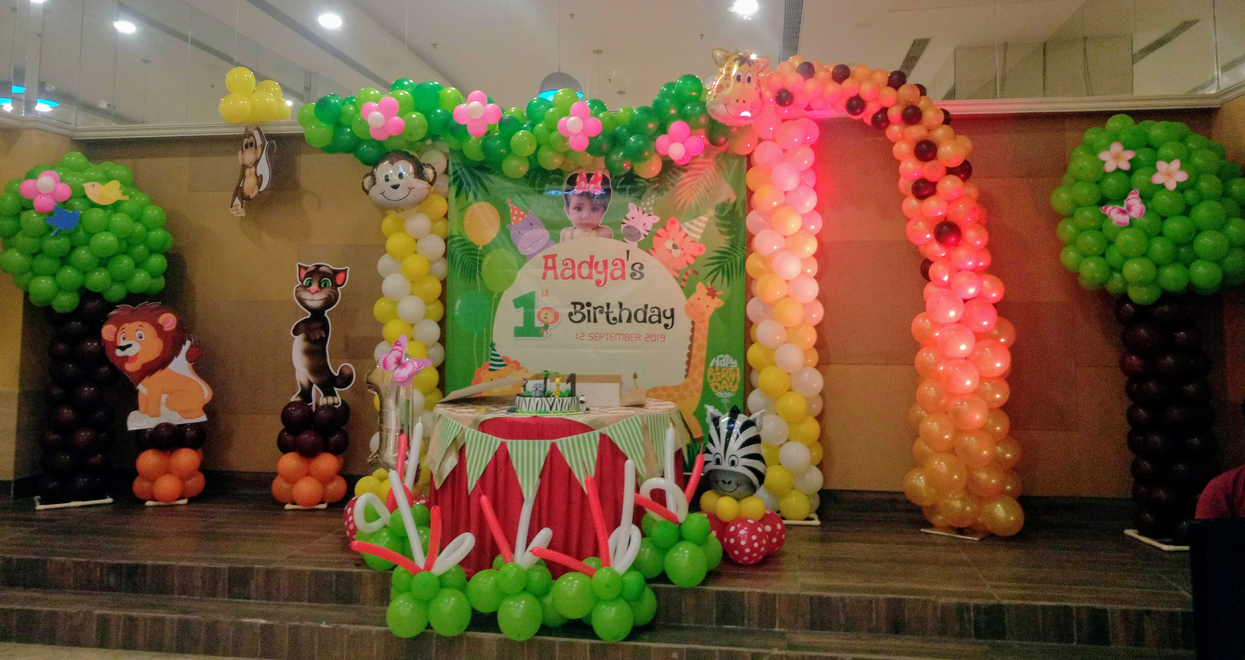 Jungle theme decoration delhi