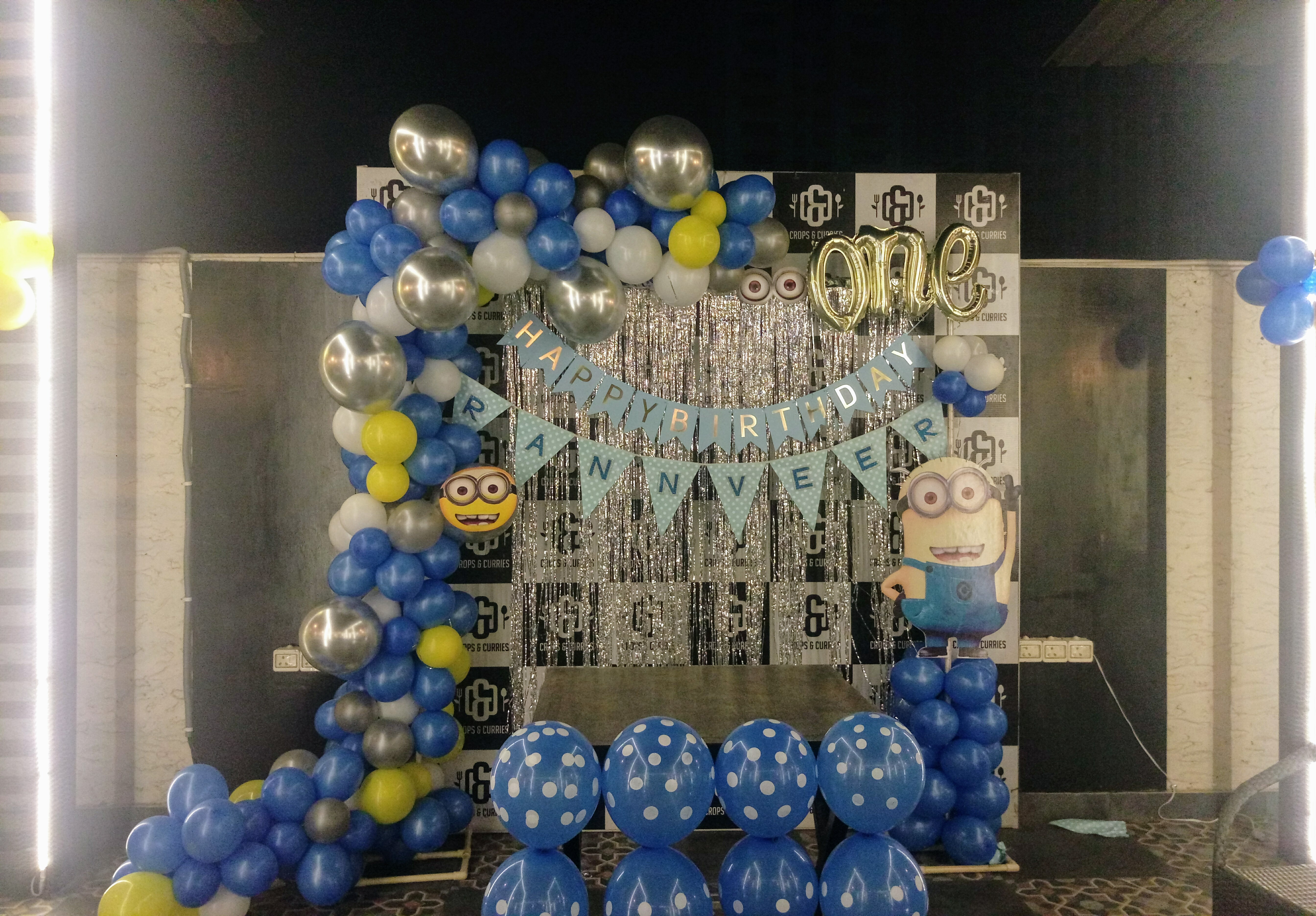 Minions theme party decoration