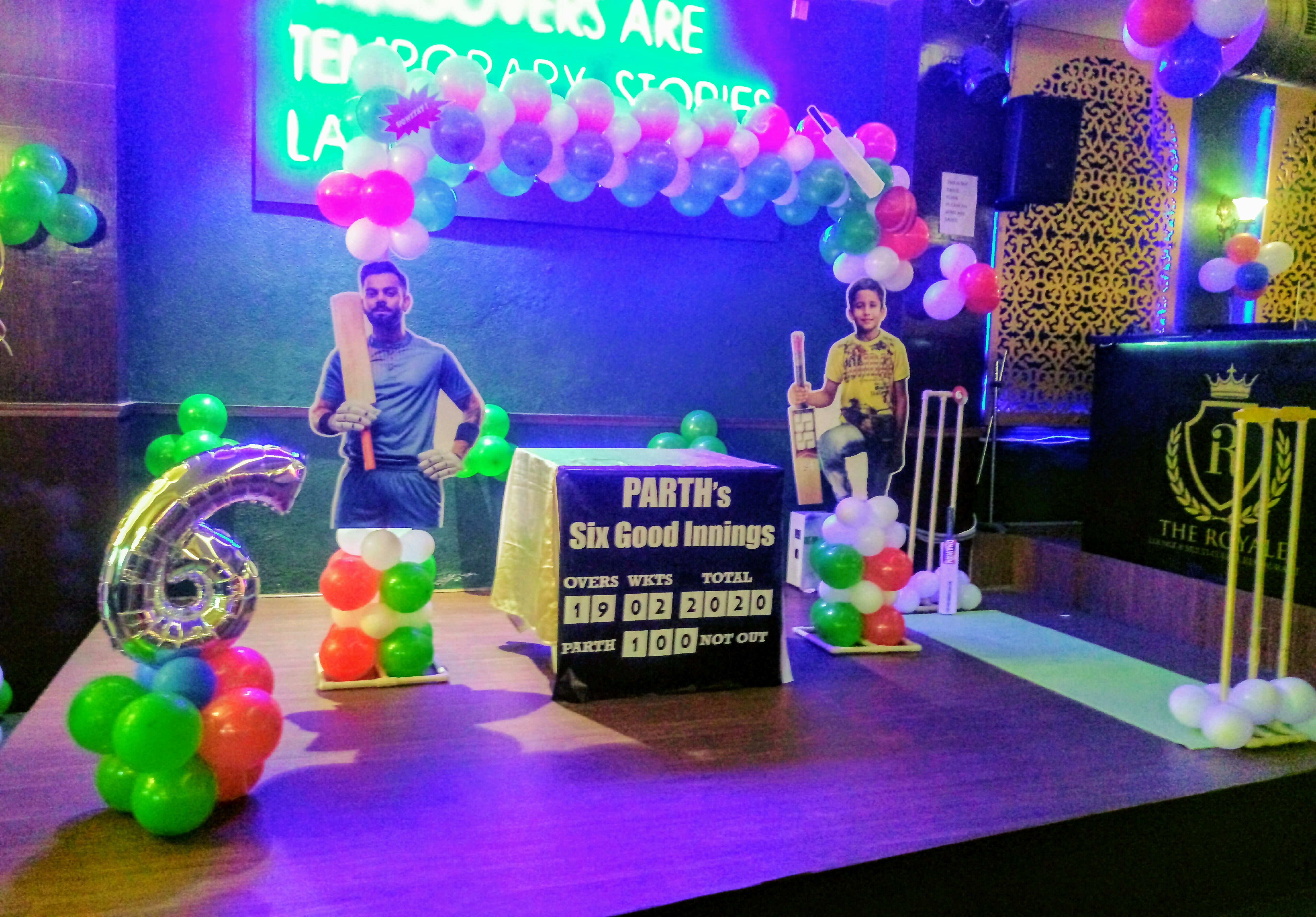 first birthday party decoration cricket