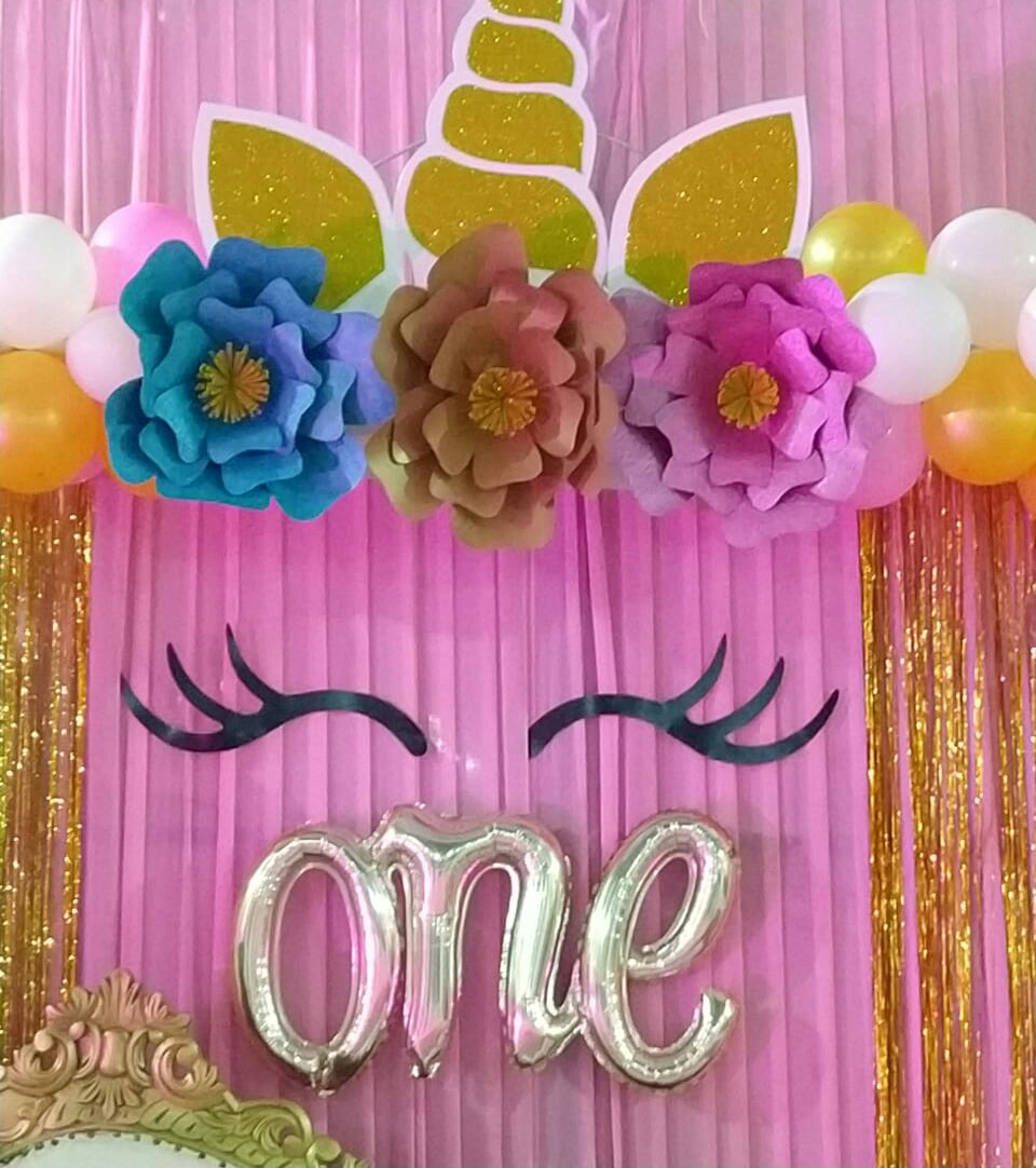 Unicorn theme party decoration