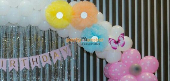 Flowers theme decoration