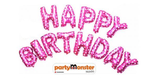 Happy Birthday Foil Banner – Pink