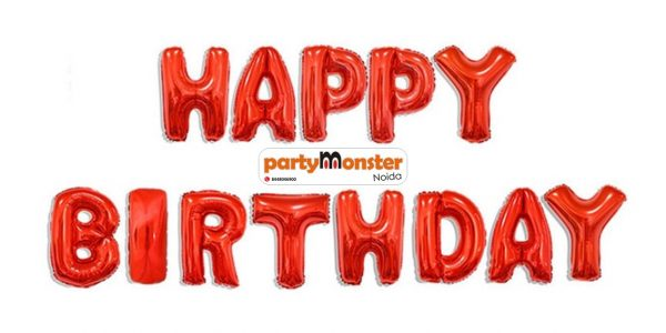Happy Birthday Foil Banner – Red