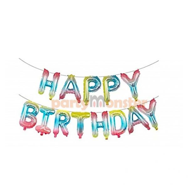 Happy Birthday Banner – Rainbow
