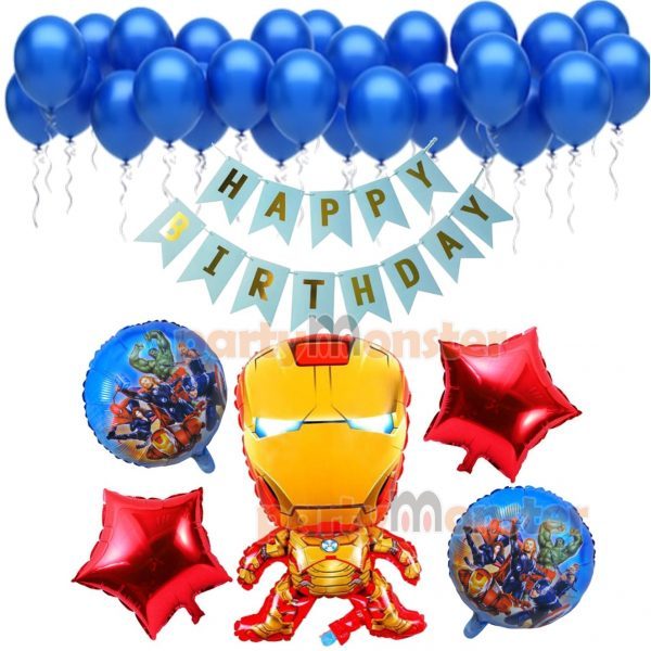 Iron Man Decorations Combo – Red & Blue