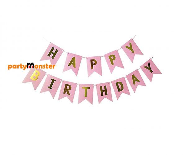 Happy Birthday Bunting – Pink