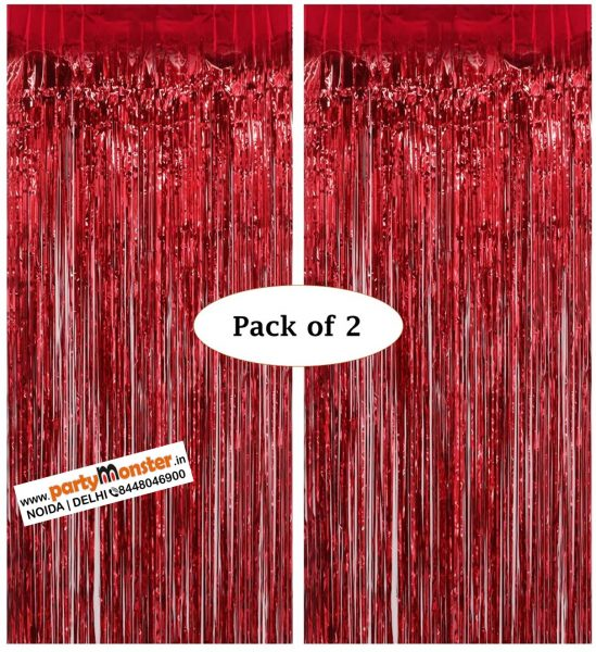 Foil curtains Red – Pack of 2