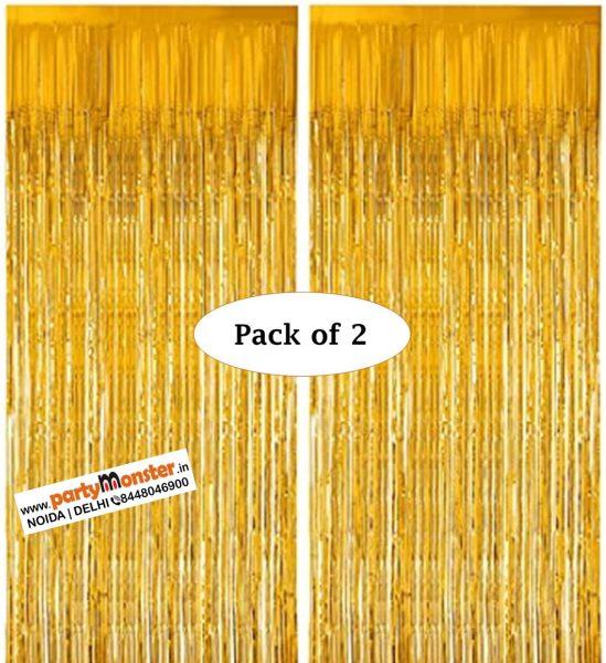 Foil Curtains Golden – Pack of 2