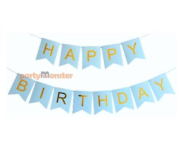 Happy Birthday Bunting – Blue