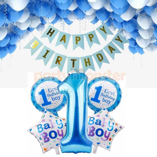 First Birthday Decoration Combo – Boys