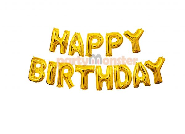 Happy Birthday Foil Banner -Golden